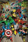 New Marvel Comics Classic Avengers Line Up Poster
