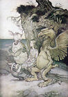 Arthur Rackham ALICE IN WONDERLAND Ref 11 PRINT A4 or A5 Size Unframed