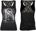 Spiral Direct Angels Cry Racer Back Lace Vest Black Gothic Sleeveless Tshirt Top