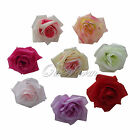 20 Simulation Flowers Artificial Silk Flower Heads The Best Gift Silk Rose Clip