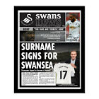Personalised Swansea City FC Newspaper Gift idea Present for Swansea Fans