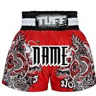 Tuff Muay Thai Boxing Shorts 140 Red Customize Free Add Name Personalize