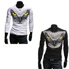 Men Eagle Casual Long Sleeve Slim Fit Round Neck Sports T-Shirt Top M2335