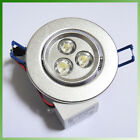 3W Power LED Recessed Ceiling Down Bulb Spot Cool/Warm White Lights Lamp 85-265V