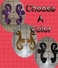 "3.5"" Scroll Motif Seed Beaded Edge Sequined Appliques Trim Sewing or Glue On"