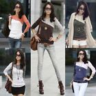 New Fashion Women Casual Soft Long Sleeve T-Shirt Round Collar Tops Blouse Tee