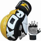 RDX Leather UFC MMA Grappling Gloves Fight Boxing Muay Thai Punch Bag Mitts Y AU