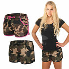 URBAN CLASSICS LADIES CAMO MESH JERSEY LINED HOTPANTS Damen Hot Pant XS-XL