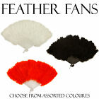 FEATHER FANS - Saloon/ Show Girl Fancy Dress Accessory Assorted Colours