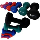 FITNESS NEOPRENE NEO HAND WEIGHTS DUMBBELLS 1-5KG EXERCISE HOME GYM