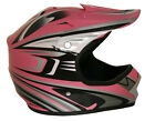 Lunatic Youth MX / ATV Helmet Pink with Graphic - DOT Approved - Boys Girls Kids