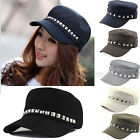 Fashion Unisex Women Men Punk Spikes Rivet Studded Baseball Hat Cap Beanie