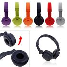 3.5mm Foldable Stereo Headset Headphone with Mic for Tablet PC iPhone Samsung LG