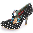 Irregular Choice Wiskers Womens Textile Heels Black Multi New Shoes All Sizes