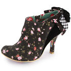 Irregular Choice Baby Beauty Womens Heels Black Floral New Shoes All Sizes
