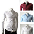 4Colors Fashion New Shirts Mens Stylish Casual Shirts Slim Fit Button Down S-XL