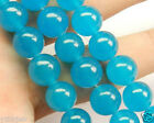 Natural Brazilian Aquamarine Gemstone Round Jade Loose Beads 15