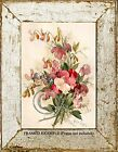SWEET PEA BOUQUET by Paul DeLongpre Cottage Garden Vintage Antique ART PRINT