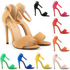 Summer Single Band Open Toe Platform Wedge Sandal  high heels Shoes UK size 2-9
