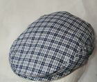 BABY FLAT CAP BOYS FLAT CAP GREY OR BLUE CHECK SIZES 1-2 YRS TO 8-13 YEARS