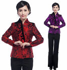 purple red Chinese Silk embroider Women's evening Jacket/Coat 6.8.10.12.14.16