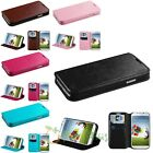 WALLET Black Leather flip pouch case cover for Samsung Galaxy S4 S IV I9500