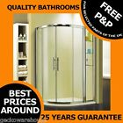 Walk In Quadrant Shower Enclosure Cubicle Glass Door + Stone Tray Easy Clean