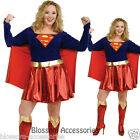 C935RB Supergirl Superhero Halloween Fancy Dress Adult Costume