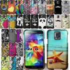 For Samsung Galaxy S5 S V G900 Rubberized Design PATTERN Hard Case Phone Cover