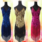 Sexy 6Color Lady Copper Sequins Ballroom Salsa Samba Rumba Latin Dancewear Dress