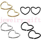 Hot Stainless Steel Heart Studs Fake Cheater CBR Cpative Ring Nose/Lip/Cartilage