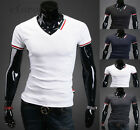 New Fashion Mens Luxury Casual Stylish Slim Fit Short Sleeve T-Shirts 5 Colors