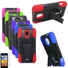 Phone Case For Straight Talk ZTE Unico Hybrid Cover Stand With Screen Protector