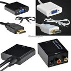 Digital Optical Coaxial Analog HDMI To VGA Video Cable Cord Converter Adapter C1