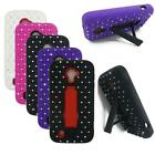 Phone Case For Straight Talk ZTE Majesty 796c Dual-Layered Crystal Cover Stand