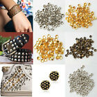 New 100Pcs Metal Pyramid Round Cone Rivets Studs Leather Spots Rock Punk Spikes