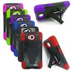 Phone Case For LG Realm / Optimus L70 Hybrid Cover with Stand Silicone Corner