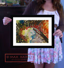 Sea Anemone's Dream ORIGINAL PAINTING Signed Art Print ABSTRACT seascape swirl