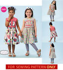 SEWING PATTERN! MAKES GIRLS DRESS~LEGGINGS~HAIRBOW! SIZE 2~8! CHILD CLOTHES~EASY