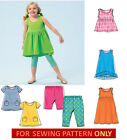 SEWING PATTERN! MAKES GIRLS DRESS~TOP~SHORTS~LEGGINGS! SIZE 2~8! CLOTHES~EASY