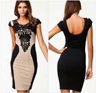 New Hot Women's Sexy Slim Fit Lace Sleeveless Short Evening Dress Party Cocktail