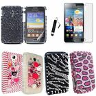 Bling Diamond Hard Case Cover For Samsung Galaxy S2 i9100/Mini 6500+SP+Stylus