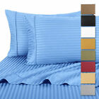 2 PACK: 4-Piece Set Hotel Life Deluxe 100% Cotton Sateen Sheet Set - 3 Sizes