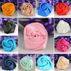 60PCS Wholesale Stain Ribbon Rose Flower Sewing Trims Appliques Wedding Craft