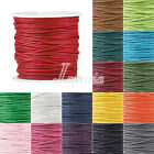 1 Roll 80m 0.5/1/1.5mm Waxed Cotton Macrame Cord Jewelry Beading Cord String