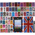 For LG Optimus Logic L35g Dynamic L38c DIAMOND BLING Crystal Hard Case Cover+Pen
