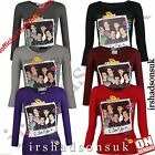 "NEW GIRLS ONE DIRECTION ""I LOVE YOU XX"" LONG SLEEVE T SHIRT TOP SIZE 7-13 YEARS"