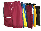 MENS SWIMMING SHORTS / TRUNKS COLOURED PLAIN COTTON MESH LINED SIZE SMALL
