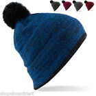 Boarder Beanie Hat Warm Mens Ladies Winter Pom Bobble Snow Unisex Skate Ski Knit