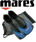 Mares Hermes Swimming Snorkelling Training Short Fins Flippers + FREE BAG - Blue